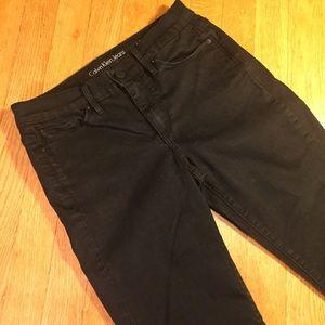 Calvin Klein ultimate skinny black jeans 6x32